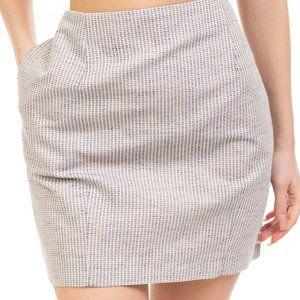 Pencil Skirt Size 40 Linen Blend Textured NEW